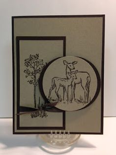 In The Meadow, Masculine Card, Stamp-a-Stack, Stampin' Up!, Rubber Stamping, Handmade Cards