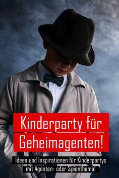 Agenten-Party - Ideen und Inspirationen für Kinderpartys mit Agenten- oder Spionthema!  #kinderparty #kindergeburtstag #spionthema #agententhema #mottoparty #agentenparty #grapevine