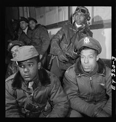 [Photograph of Tuskegee airmen attending a briefing in Ramitelli, Italy, March 1945]. Photo by Toni Frissell, March 1945.  Toni Frissell Collection, Library of Congress Prints and Photographs Division.