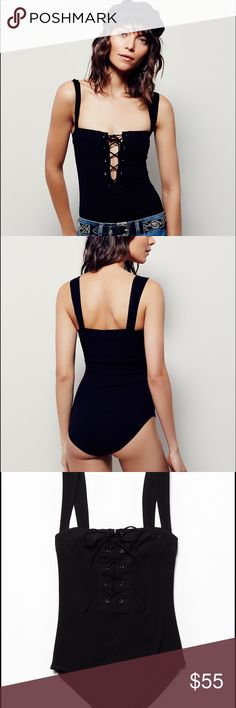 BNWOT black xs body suit Never worn, came w/o tags Free People Tops