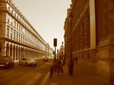 Street in Paris- sunlight