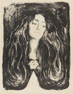 Edvard Munch - The Brooch. Eva Mudocci