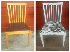 makeover on a chair in my summer house