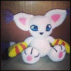 #Gatomon is finally finished!!! Her eyes were a little challenge and took a bit of time but I just love how she turned out! What do you all think? Which #Digimon would you like to see next? :) #etsy #amigurumi #plush #plushie #igers #gamer #geekery #girlgamer #instagamer #instagaming #cat #kitty #crochet #kawaii #cute #yarn #ooak #Handmade #art #fanart by thetallgrass