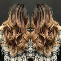 Natural looking brown and blonde balayage ombre hair colour #balayage #ombre