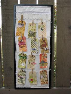 From FormerlyLisaS on flickr - 12 Days of Christmas Tags -- lots of Balzer Designs stencils used to create the backgrounds!