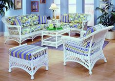 Huge On Bar Harbor White Rattan Sunroom Furniture From E Island Wicker And Design Center