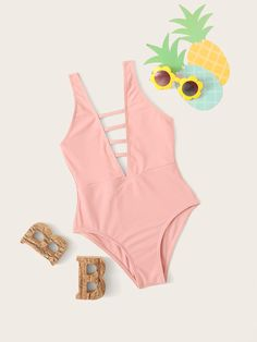 To find out about the Girls Ladder Cutout Deep V Plunge One Piece Swimsuit at SHEIN, part of our latest Girls Swimwear ready to shop online today! Swimsuits For Tweens, Cute Swimsuits, Plunging One Piece Swimsuit, One Piece Swimwear, Lace Bikini, Bikini Set, Girl Outfits, Cute Outfits, Bikini Outfits