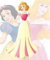 disney fusion: Aurora and Snow White by Willemijn1991