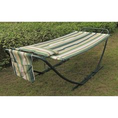 Attractive Stripe Hammock With Steel Stand