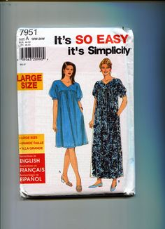 Simplicity 7676 Women S Pullover Dress In 3 Lengths Sizes