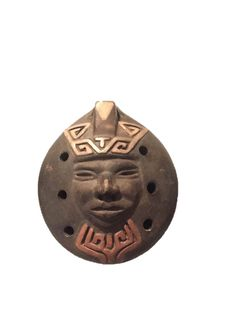 Chilean Ocarina Whistle with Face Vintage South American Clay Flute from Chile Ceramic Chilean flute - Chilean Flute