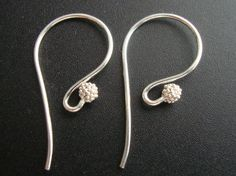 5% off 20 pcs, 23x11.5mm, Bali Artisans, Sterling Silver Fancy French Earwire with cluster  beads on Etsy, $25.20