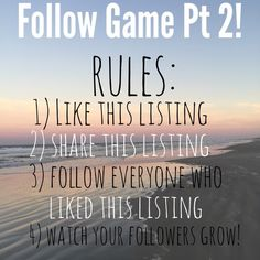 FOLLOW GAME PT. 2! Hey guys! I'm turning my party listing into a second follow game, so feel free to unlike this post if you do not want to be a part of it! See rules above  Coach Bags