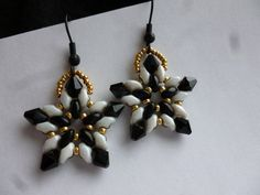 Black and White Star Earrings by WescottJewelry on Etsy, $10.00: