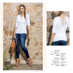 Ref. 352712 Blusa en algodón stretch Color: Blanco Tallas: XS-S-M-L $89.990 Ref. 392703 Falda Larga en Tencell Color: Únic...