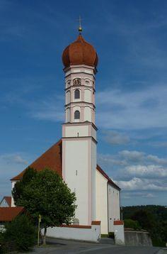 Steinhausen an der Rottum, die Wallfahrtskirche Mariä Himmelfahrt, der frühbarocke