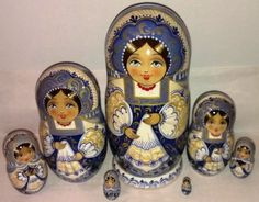 Gorgeous NESTING DOLL STACKING DOLLS 7