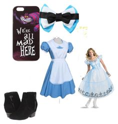 """Alice in wonderland"" by cupcake135 on Polyvore featuring Disney, Disguise and Volatile"