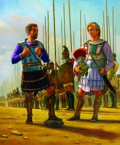 King Philip of Macedonia and his son Alexander the Great