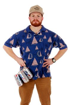 USA Sail Away Sailboat Polo | Get your USA gear and all manner of outrageous threads at Shinesty.com