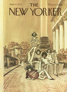 The New Yorker - Monday, June 10, 1974 - Issue # 2573 - Vol. 50 - N° 16 - Cover by : Charles Saxon