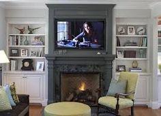 Картинки по запросу расположение телевизора над камином