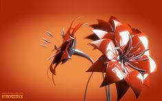 metal art flowers