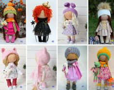 Dolls at STOCK - price from 85 to 139 usd, Fabric doll, Tilda doll, Textile doll, Handmade doll, Rag doll, Baby doll, Interior doll
