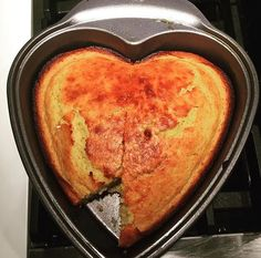 Make a heart-shaped corn bread loaf with this recipe.