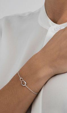 George Charm. DiamondJewelryNY Double Loop Bangle Bracelet with a St