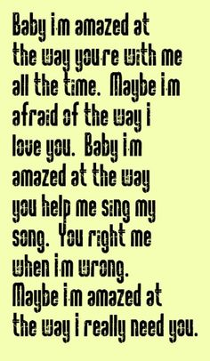 Paul McCartney - Maybe I'm Amazed - song lyrics, music lyrics, song quotes, music quotes, songs