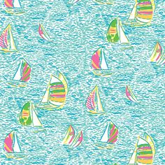 Sailboat Lilly Pulitzer Pattern