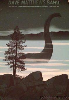 Dave Matthews Band - 2013 Methane poster print X/585 S/N Tahoe Nessy