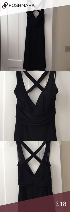 Perfect Little Black Dress! Perfect comfortable and classy little black dress. Super flattering on with straps that cross in the back! Perfect for a wedding or party! By Laundry by Shelli Segal. Does not go out of style Laundry by Shelli Segal Dresses