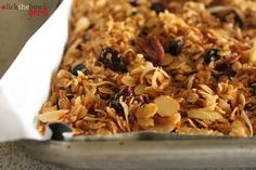 Quick Skillet Granola..low to med heat.  Burns easily.  I added flaxseed reds instead of sesame.