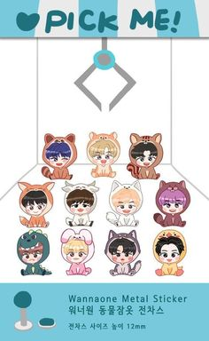 Wich one would you choose? I think alll Dans Fans, Bts Got7, Lai Guanlin, Ong Seongwoo, Ha Sungwoon, First Art, Kpop Fanart, Cute Stickers, Exo Stickers