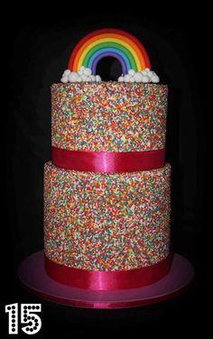 Sammy's Birthday Cake! Sprinkle Cake Tutorial - by TheGreedyBaker @ CakesDecor.com - cake decorating website