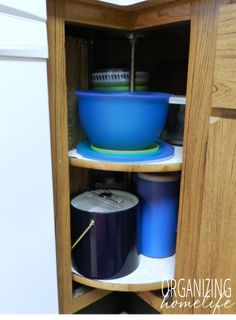 Corner Cabinet Organization From Ikea Neeeeeeeed I Think This Is Rationell Home Dec And Organziation Pinterest Organisations
