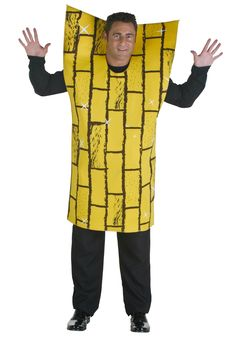 Lead everyone to Emerald City in this adult yellow brick road costume. The exclusive Wizard of Oz costume is just one of our funny storybook costumes for men. Halloween Costumes For Teens, Adult Costumes, Group Halloween, Halloween 2015, Halloween Birthday, Costume Halloween, Halloween Crafts, Halloween Ideas, Group Costumes