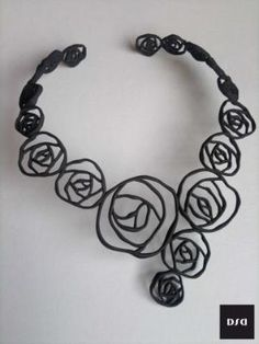 BLACK ROSE  collier  by Dario Scapitta Design on Shapeways
