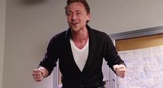 He's so damn adorable with his little V-neck and middle school art teacher cardigan. I can't handle it.
