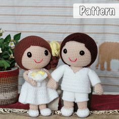 Bella & Wally Beach Wedding Dolls Pattern