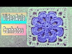 Flor de Crochê Primorosa ♡ - ByActual - YouTube Crochet Coat, Crochet Squares, Crochet For Beginners, Knitting Stitches, Pot Holders, Crochet Patterns, Make It Yourself, Blanket, Crochet Rug Patterns
