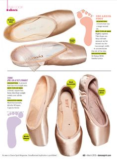 Pointe Shoes for Every Foot Type - Dance SpiritDance Spirit - Dance - Shoes Pointe Shoes, Ballet Shoes, Greek Feet, Irish Dance Shoes, Ballet Feet, Dancers Feet, Ballet Dancers, Dance Technique, Dance Tips
