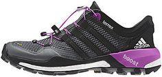 Adidas Outdoor Terrex Boost Trail Running Shoe - Women's Vista Grey/Black/Flash