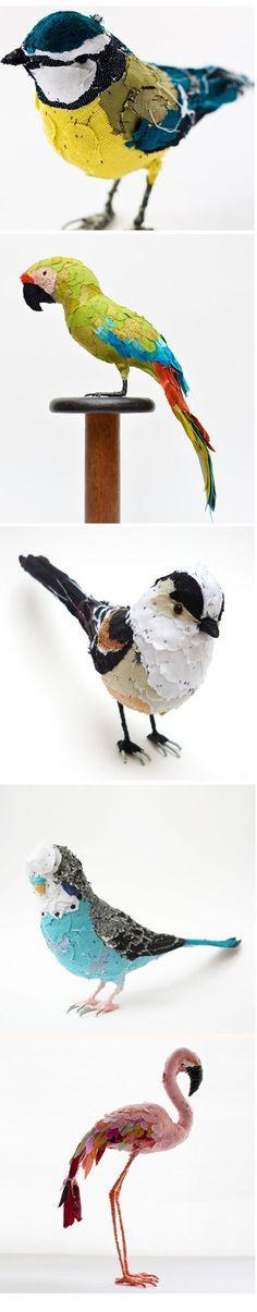 24 Best 3D images | Birds, Fabric art, Fabric birds