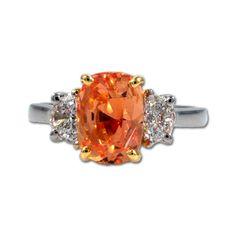 Padparadscha Sapphire and Diamond Ring, James Breski
