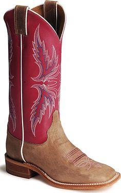 Justin Bent Rail Hot Pink Cowboy Boots - Square Toe $164.99