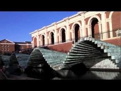 """""""Wave"""" Sculpture by Santiago Calatrava at SMU in Dallas... I wanna go to Dallas and photograph this sculpture to use as art in my bathroom :) its so neat and would match so well!"""